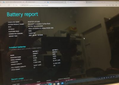 5 Final Battery Report output
